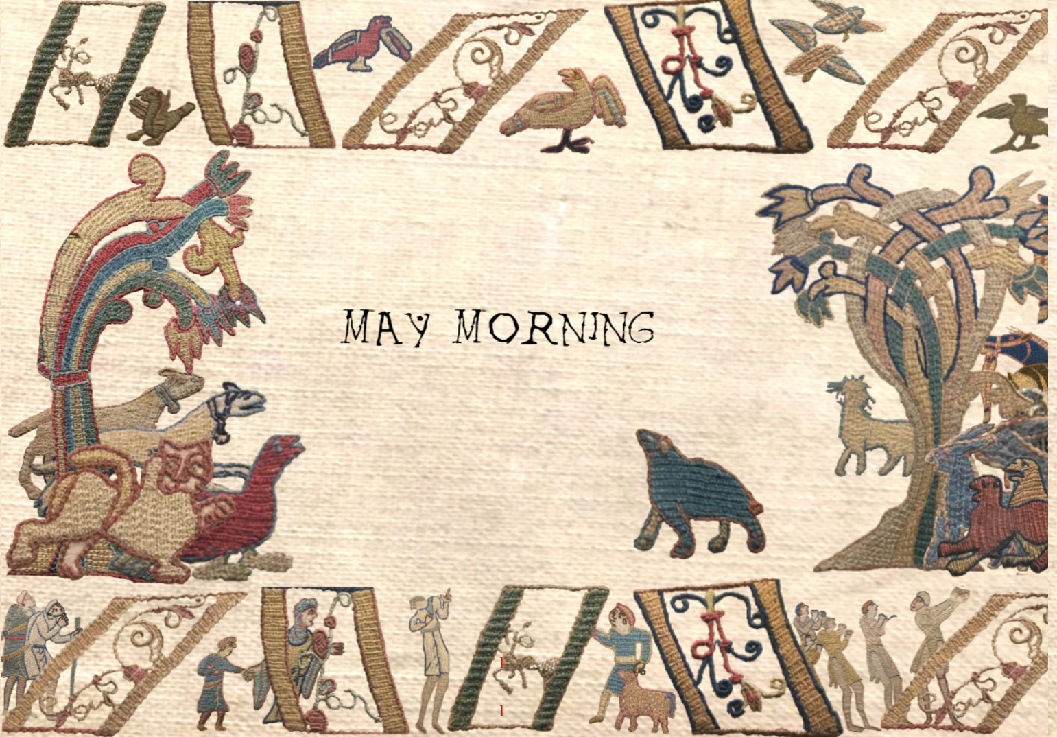 May morning in lockdown Bayeux Tapestry